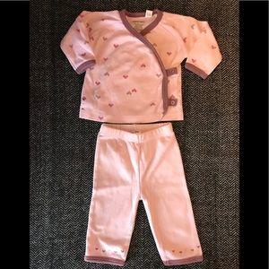 Petit lem kimono style Cotton pjs size 3m